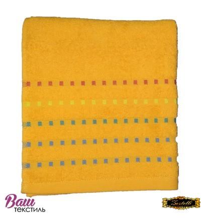 Банное полотенце ZASTELLI Мозаика Оранжевое махра фото