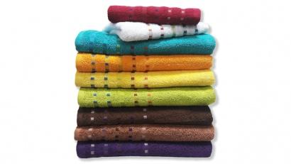 Банное полотенце ZASTELLI Мозаика Оранжевое махра фото 2