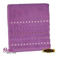 Банное полотенце ZASTELLI Мозаика Фиолетовое махра фото