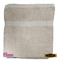 Банное полотенце ZASTELLI махровое Кремовое фото
