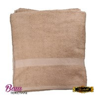 Банное полотенце ZASTELLI махровое Бежевое фото