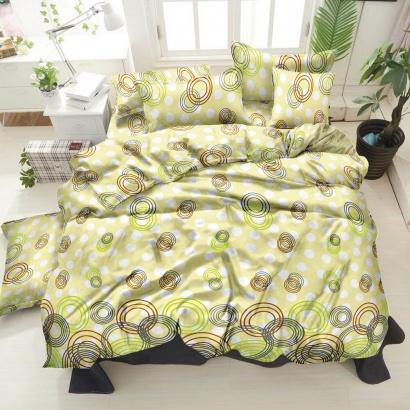 Bed linen set ZASTELLI 30-0263 Beige Cotton Gold  фото 2