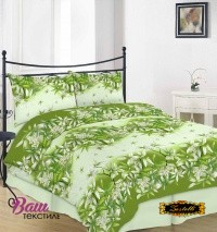 Bed linen set ZASTELLI 20-0938 Green Cotton Gold фото