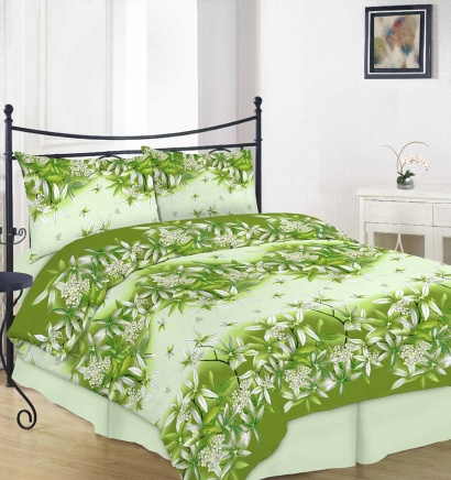 Bed linen set ZASTELLI 20-0938 Green Cotton Gold фото 2