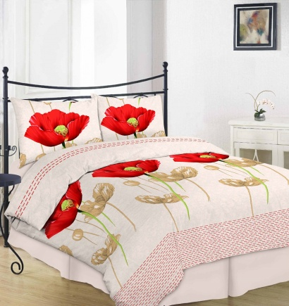 Bed linen set ZASTELLI 20-0759 Salmon Cotton Gold  фото 8