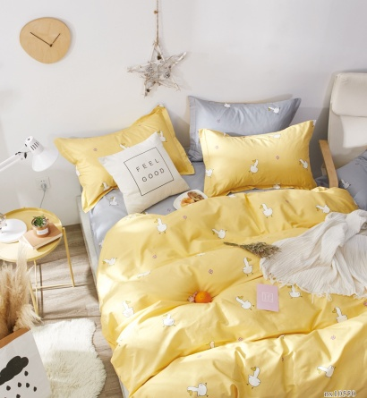Bed linen set Zastelli Goose on Yellow Cotton фото 3