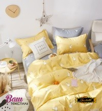 Bed linen set Zastelli Goose on Yellow Cotton фото