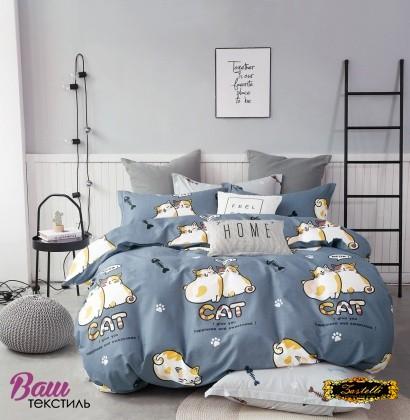 Постельное белье Zastelli Cats on Blue бязь  фото