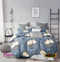 Bed linen set Zastelli Cats on Blue Cotton фото