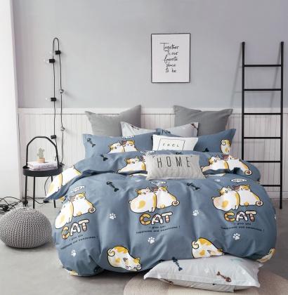 Постельное белье Zastelli Cats on Blue бязь  фото 2