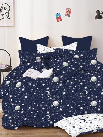 Постельное белье Zastelli Stars on Blue бязь  фото 3