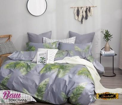 Bed linen set Zastelli Leaves on Blue Cotton фото