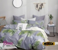 Bed linen set Zastelli Leaves on Blue Cotton фото