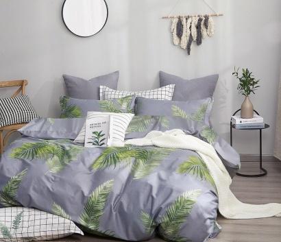 Bed linen set Zastelli Leaves on Blue Cotton фото 2