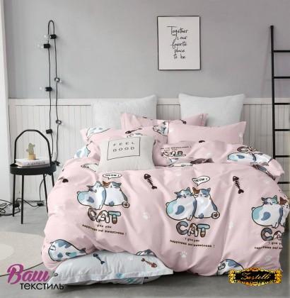 Bed linen set Zastelli Cats on Pink Cotton фото