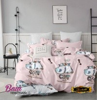 Bed linen set Zastelli Cats on Pink Cotton фото