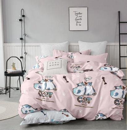 Bed linen set Zastelli Cats on Pink Cotton фото 2