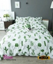 Bed linen set ZASTELLI Cactus on White Cotton Gold фото