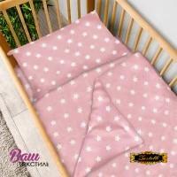 Постільна білизна Zastelli 51 Зірки на рожевому бязь  фото