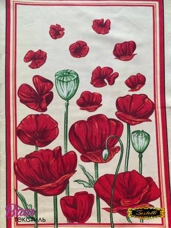 Полотенце кухонное ZASTELLI сатин Цветы фото