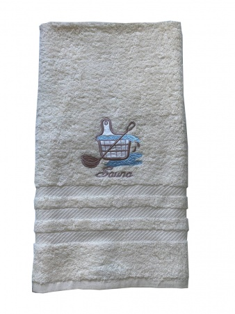 Terry sauna towel Zastelli Cream фото 4
