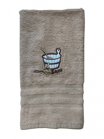 Полотенце для сауны Zastelli махра Беж фото 5