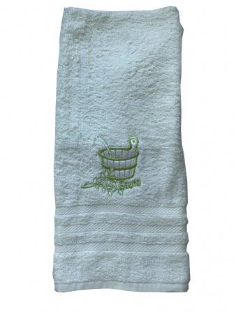Полотенце для сауны Zastelli махра Зеленое фото 5