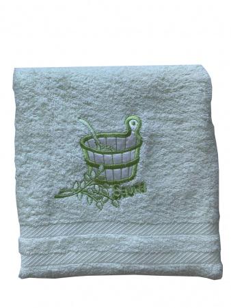 Полотенце для сауны Zastelli махра Зеленое фото 4