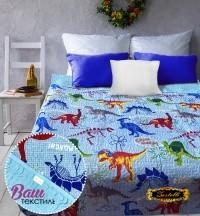 Bedspread ZASTELLI Dinosaurs 14638 brazed фото
