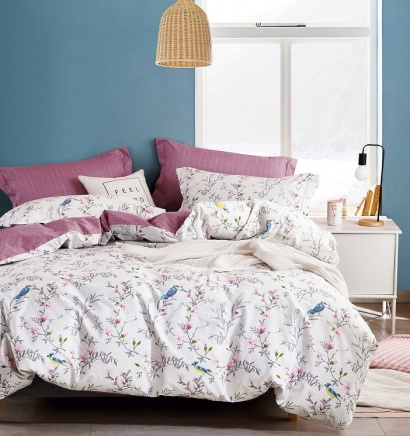 Bed linen set Zastelli Birds Cotton фото 3