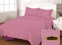 Bed linen set Zastelli Bubble Plum Gold USA Cotton фото