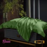 Наволочка шелковая зелёная Zastelli