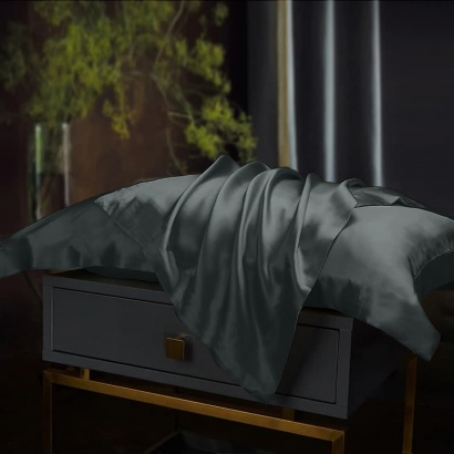 Pillowcase Silk Black Zastelli фото 2