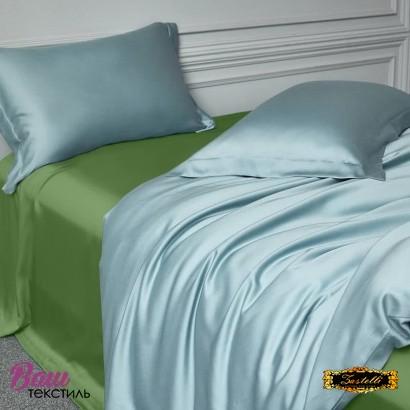 Простынь шелковая зелёная Zastelli фото