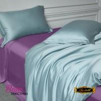 Простирадло шовкове темно-фіолетове Zastelli фото