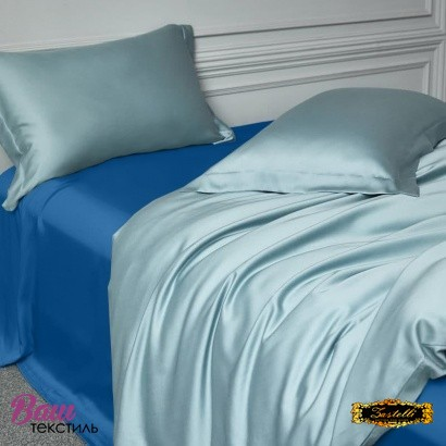 Flat sheet Silk Dark Blue Zastelli фото
