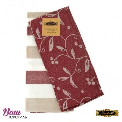 Kitchen towels set ZASTELLI Jacquard Vinous (2 pcs) фото