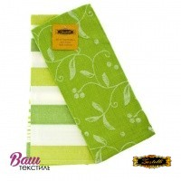 Jacquard Kitchen towels set ZASTELLI Green (2 pcs) фото