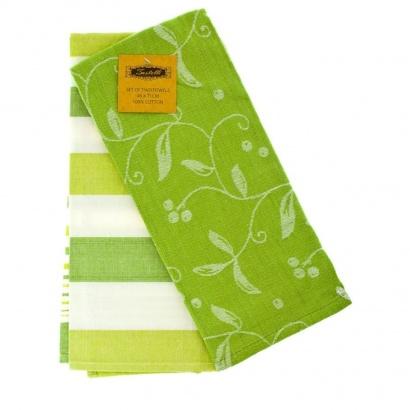 Jacquard Kitchen towels set ZASTELLI Green (2 pcs) фото 2