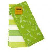 Набір кухонних рушників ZASTELLI Зелені жакард (2шт) фото