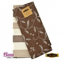 Kitchen towels set Zastelli Jacquard Brown (2 pcs) фото