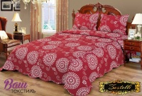 Bedspread ZASTELLI 755 cotton red фото