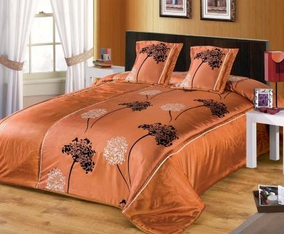 Покривало шовкове Zastelli 7016 помаранчеве фото 2