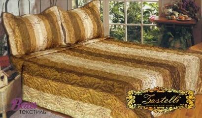 Silk Bedspread ZASTELLI PA271145 Gold Branch beige фото