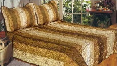 Silk Bedspread ZASTELLI PA271145 Gold Branch beige фото 2