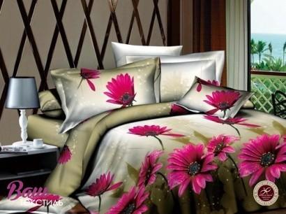 Комплект дизайнерского постельного белья Word of Dream 1340SYH709 Герберы Сатин фото