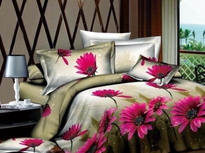 Комплект дизайнерского постельного белья Word of Dream 1340SYH709 Герберы Сатин фото 2