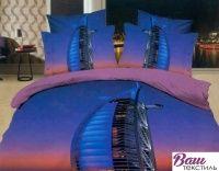 Комплект дизайнерского постельного белья Word of Dream Н790 Небоскреб Сатин