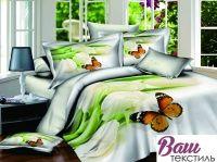 Комплект дизайнерского постельного белья Word of Dream H1315 Легкость бытия Сатин