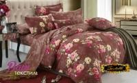 Комплект постельного белья Zastelli 2253-2254 Цветочные узоры сатин